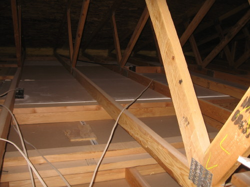 No Insulation Above Master Bedroom And Bathroom In Attic